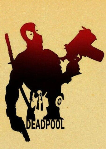 poster kraft à l'effigie du Super Heros Deadpool Marvel
