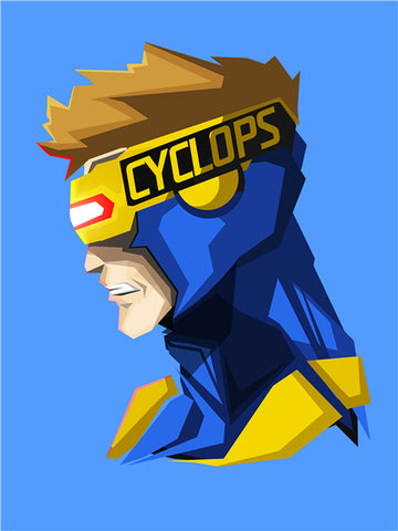 Poster Marvel <br/>Cyclope Profil