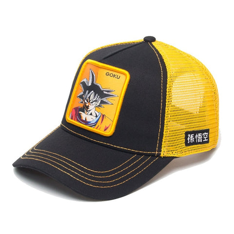 Casquette Dragon Ball Z Goku Noir et Orange