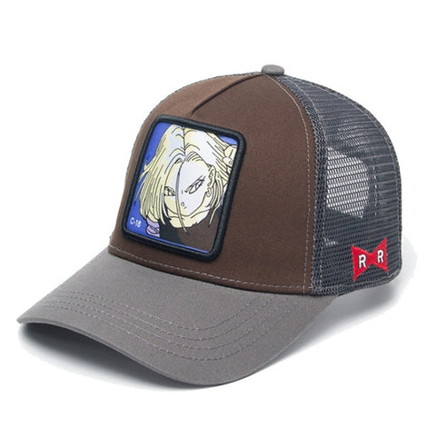 Casquette Dragon Ball Z C-18 Marron