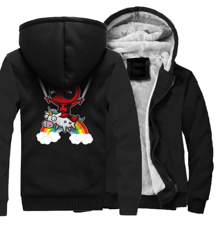 Veste Super Heros Polaire <br/>Licorne Deadpool