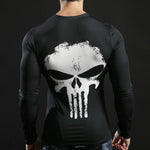 Tee shirt musculation long de dos à l'effigie du Super Heros Marvel The Punisher