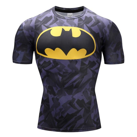 Tee shirt musculation court de face à l'effigie du Super Heros Batman Legends