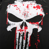 Tee shirt musculation court logo à l'effigie du Super Heros Marvel The Punisher