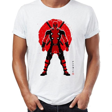 T-shirt Marvel à l'effigie de Deadpool en samouraï