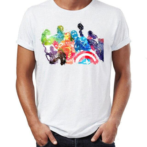 T-shirt Marvel Fresque à l'effigie des Avengers