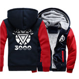 Veste Avengers Polaire I Love You Marine et Rouge