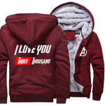 Veste Avengers Polaire Love Bordeaux