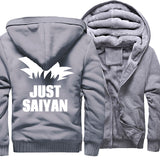 Veste Dragon Ball Z Polaire Just Saiyan Gris