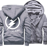 Veste Super Heros Polaire Flash Grise