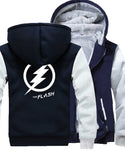 Veste Super Heros Polaire Flash Marine et Grise