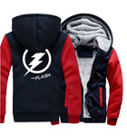 Veste Super Heros Polaire Flash Marine et Rouge