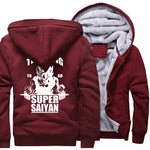 Veste Dragon Ball Z Polaire Super Saiyan Bordeaux