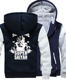 Veste Dragon Ball Z Polaire Super Saiyan Marine et Grise