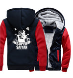 Veste Dragon Ball Z Polaire Super Saiyan Marine et Rouge