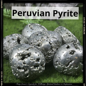Crystals of Abundance  Wealth, Grounding, Healing and Protection  – PERUVIAN PYRITE tumbled stones