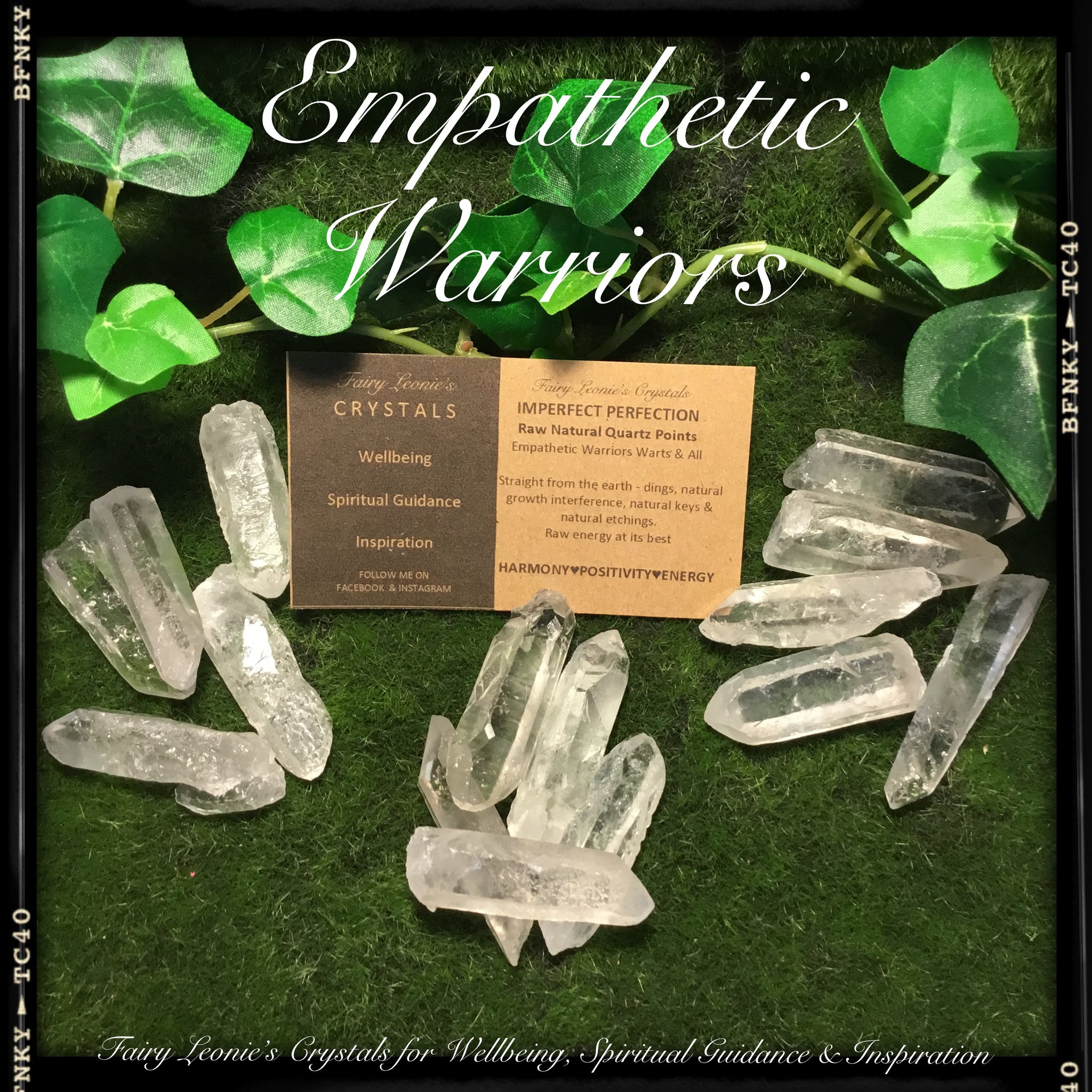 IMPERFECT PERFECTION -Raw Natural Empathetic Warrior Quartz Point Sets