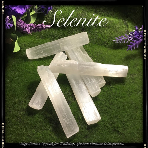 Crystal Grid SELENITE WAND Activator