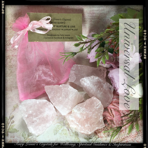 Crystals for Love RAW NATURAL ROSE QUARTZ