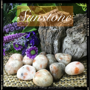Crystals For Comfort & Nurturing SUNSTONE Tumbled Stones