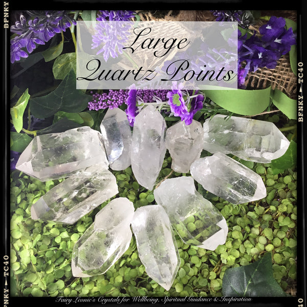 Crystals for Joy & Happiness CLEAR QUARTZ POINTS