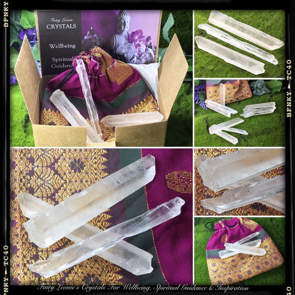 Crystals for Healing.  RAISE THE VIBRATION. Lemurian Singing Crystal Kit