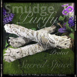 Cleanse & Purify with WHITE SAGE Smudge Bundles