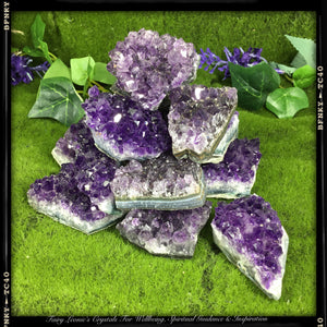 Crystals for Stress & Tension  MINI AMETHYST CLUSTERS