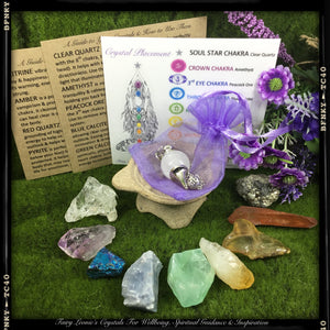 Crystals of Healing  Healers Complete RAW NATURAL Chakra Balance Crystal Set