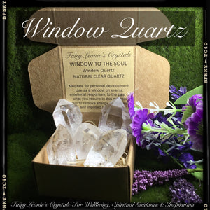 "Crystals for Life's Purpose  CLEAR QUARTZ – ""Meditation"" Window Points"