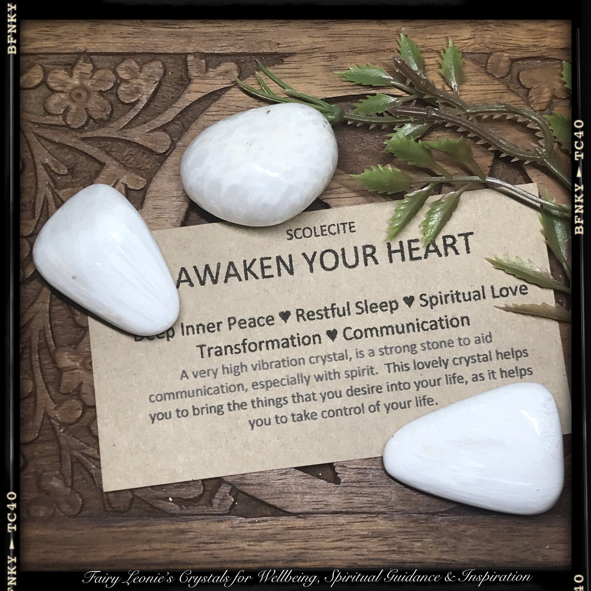 Light Workers Awaken Your Hearts! Tumbled SCOLECITE Crystals