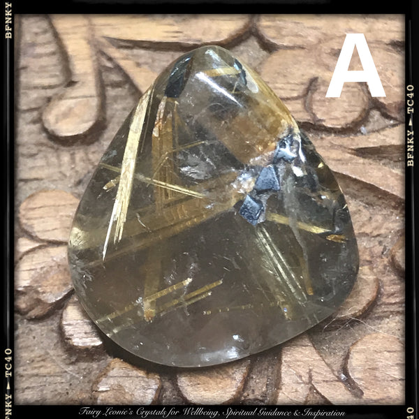 Manifestation- Tumbled RUTILATED QUARTZ Crystals