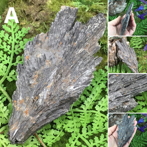 CRYSTALS FOR PROTECTION- large black kyanite blades/fans