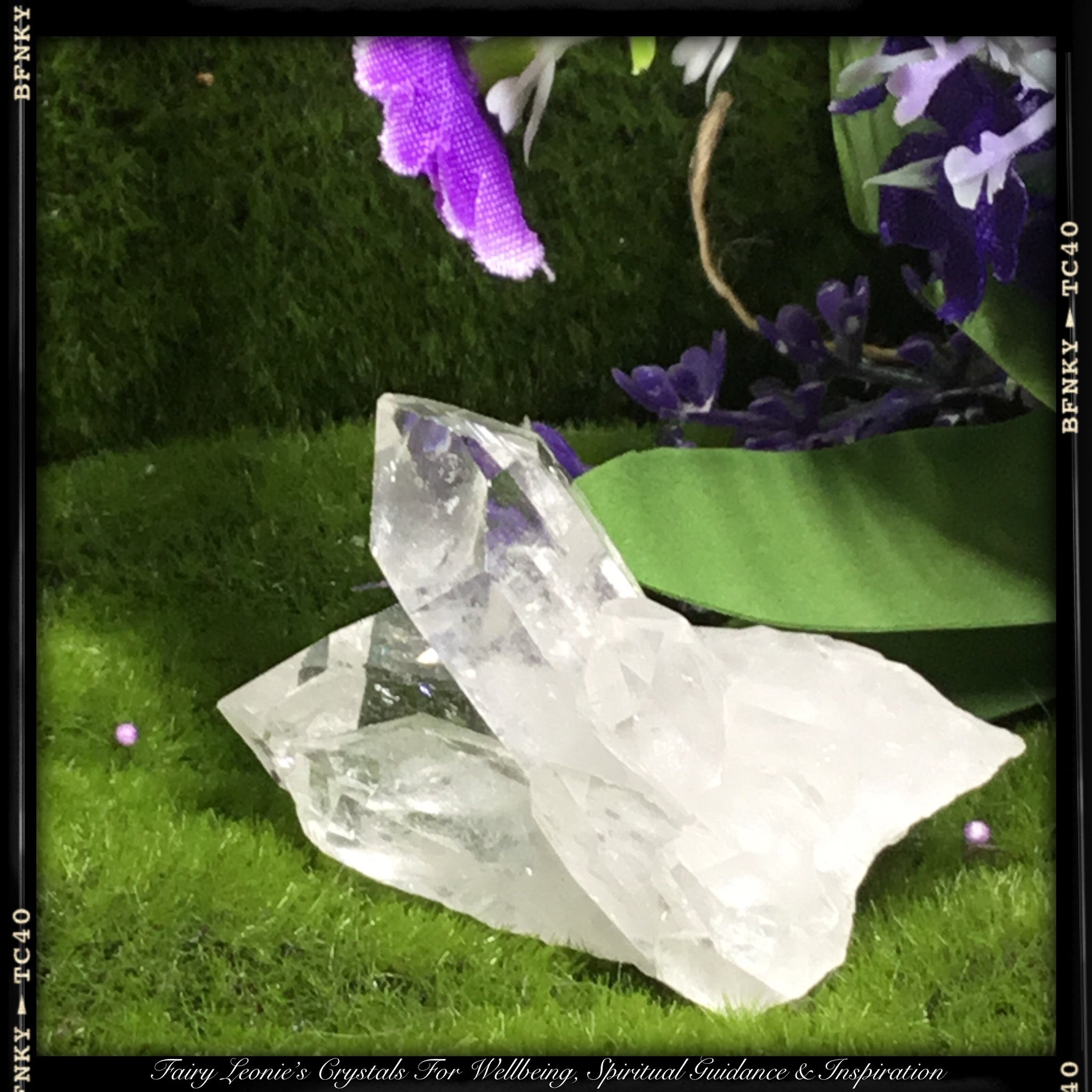 "Crystals for Life's Purpose  CLEAR QUARTZ – ""Fork in the Road"" Meditation Cluster"