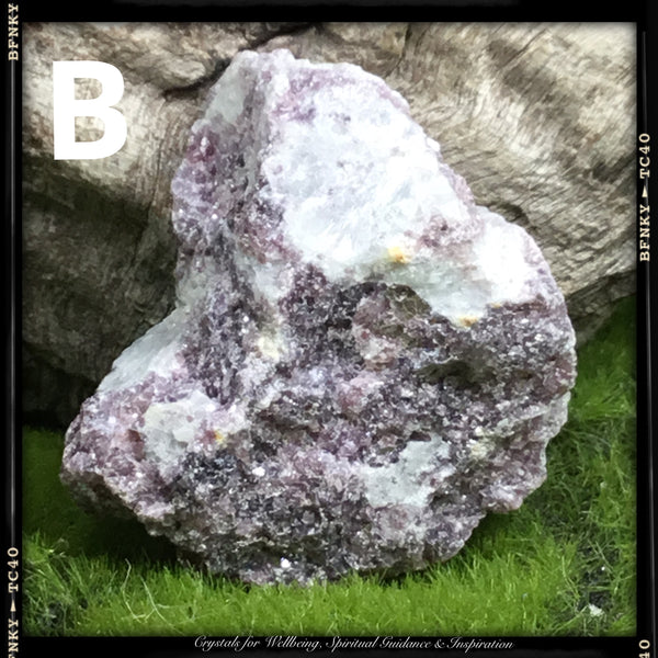 Crystals for Peace and Tranquility. RAW LEPIDOLITE