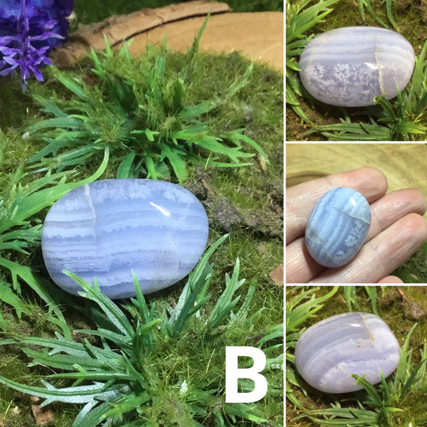 Courage & Peace – Tumbled BLUE LACE AGATE Crystals
