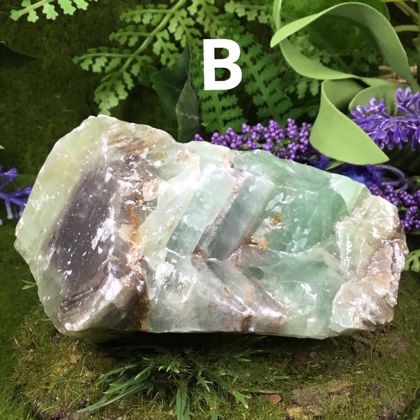 Crystals For Abundance & Prosperity- RAW GREEN CALCITE