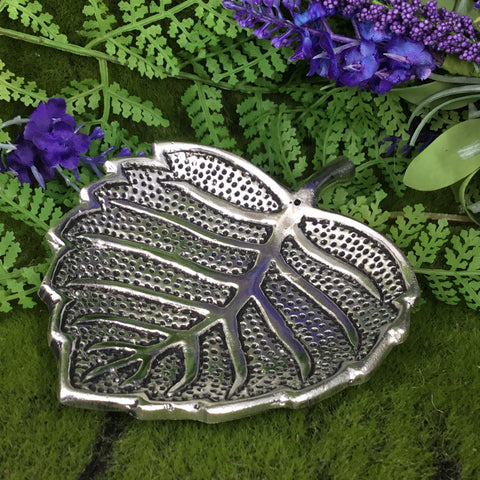 Leaf Shaped incense Burner, Trinket Bowl, crystal holder.