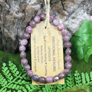 WEARABLE ENERGY- lepidolite bracelet