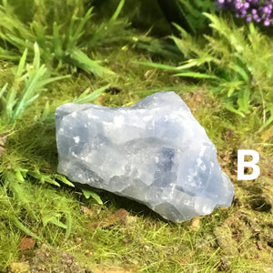 CRYSTALS FOR STRESS & TENSION- Natural Blue Calcite
