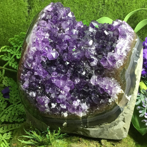 UNEARTHED TREASURE- Freeform Amethyst cluster in matrix