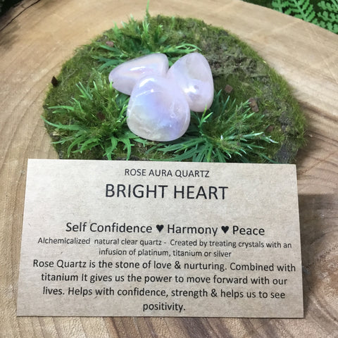 Love and nurture with ROSE QUARTZ AURA TUMBLES