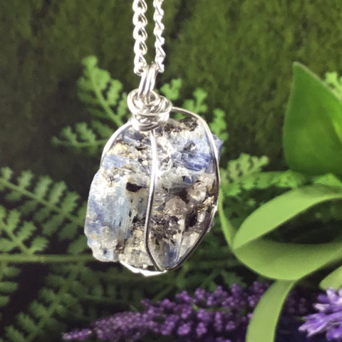 WEARABLE ENERGY- Natural Kyanite 'alignment' necklace pendant