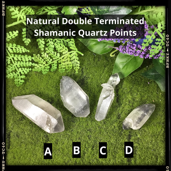 natural double terminated healimg shamanic point quartz wands choice of 4 types shown