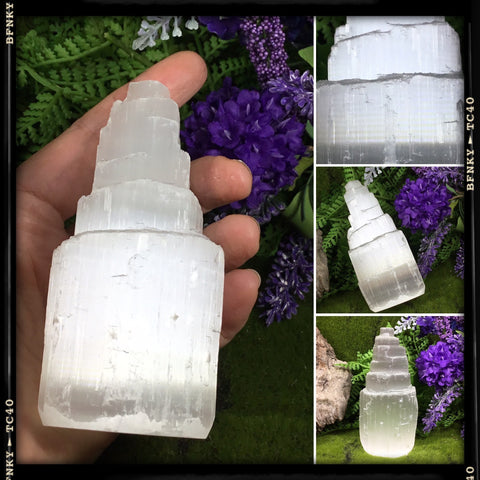 CLEANSE AND PURIFY- selenite tower