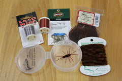Brown Rubber legs fly tying kit Arricks Fly Shop