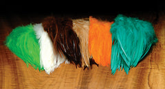 "5""-7"" Dyed over White Strung Saddle Hackle"