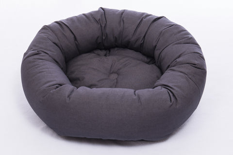 dog bed, donut bed for dogs, round beds, repelzit, repelz-it, nano technology, nano treatment, Pebble Grey