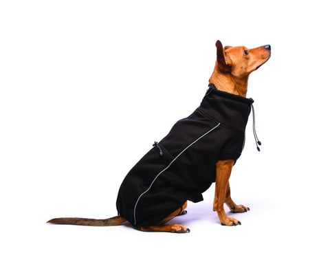 olympia dog jacket, nano dog jacket, repelz-it, repelzit, sporty dog jacket, black dog jacket