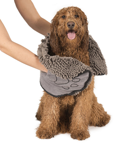 dog shammy, grey, dog towel
